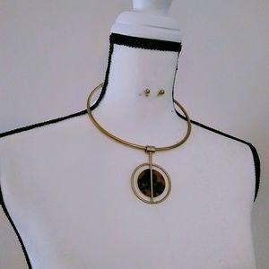 Pendant Necklace Set gold